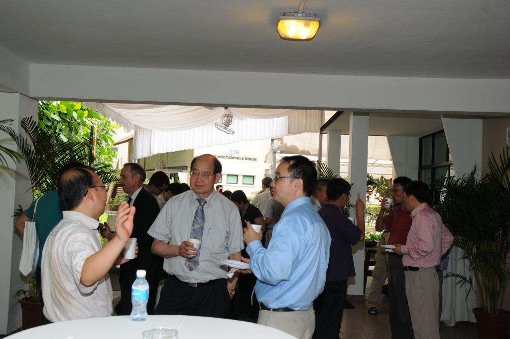 More enlightening conversations at IMS: (From left) BAO Weizhu, Yum-Tong SIU, TAN Ser Peow