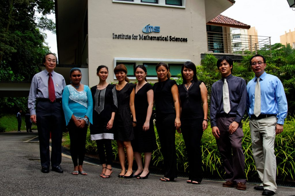The ever-smiling faces of IMS: (From left) Louis CHEN,Rajeswary SIVARAJ, Nurleen Binte MOHAMED, Claire TAN, Emily CHAN, Agnes WU, Jolyn WONG, Stephen AUYONG, TAN Ser Peow