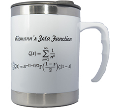 IMS White Mug (The Riemann Zeta Function, 12oz)<br /> Price: $15