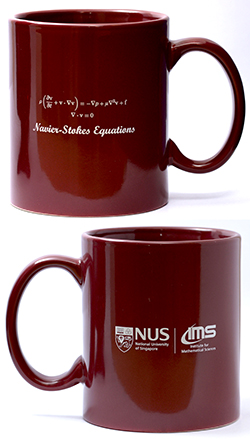 IMS Maroon Mug (Navier-Stokes Equations, 12oz)<br /> Price: $15