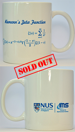 IMS White Mug (The Riemann Zeta Function, 12oz)<br /> Sold Out