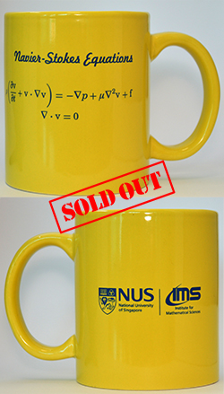 IMS Yellow Mug (Navier-Stokes Equations, 12oz)<br /> Sold Out