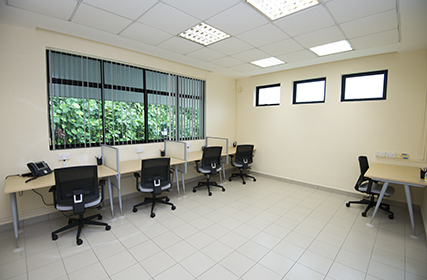 Spacious visitors' office