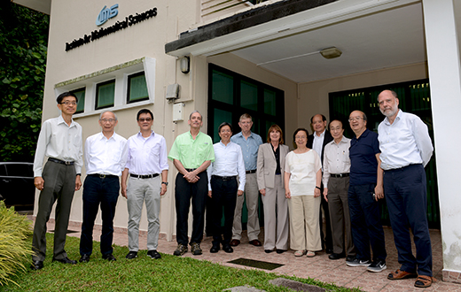 From left - QUEK Tong Boon, CHONG Chi Tat, LAI Choy Heng, Hugh WOODIN, Fang-hua LIN, Iain JOHNSTONE, Jill PIPHER, Sun-Yung Alice CHANG, Yum-Tong SIU, Louis CHEN, CHOI Kwok Pui, Wolfgang HACKBUSCH At IMS on 13 Jul 2017.